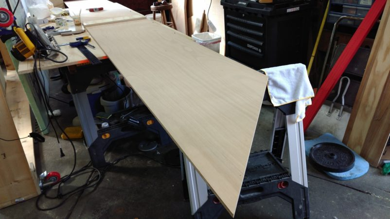 Pressure Plate Aligns Epoxied Plywood Scarf