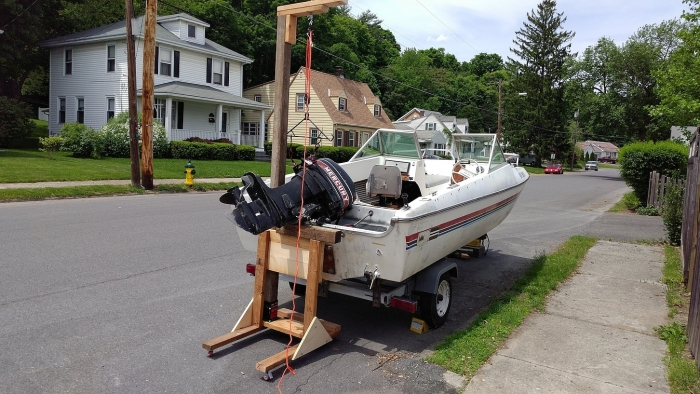 DIY Outboard Stand - Boat Build Project