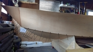 Sides Stitched On the Tango Skiff - It's a Boat!