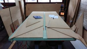Skiff Sides Scarfed, Epoxied and Trimmed